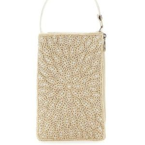 ** BAMBOO TRADING CO Faux Pearl Flower Bag NWT
